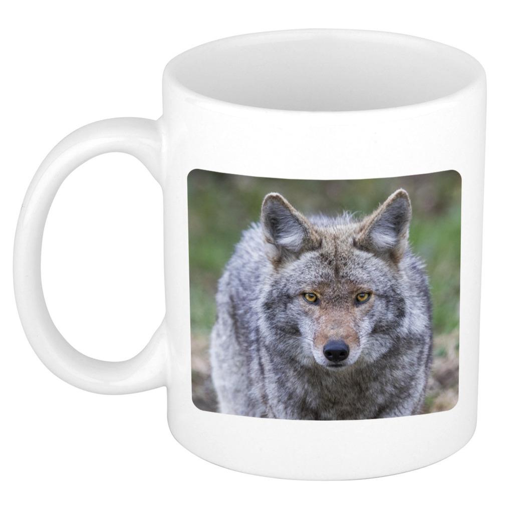 Foto mok wolf mok - beker 300 ml - Cadeau wolven liefhebber