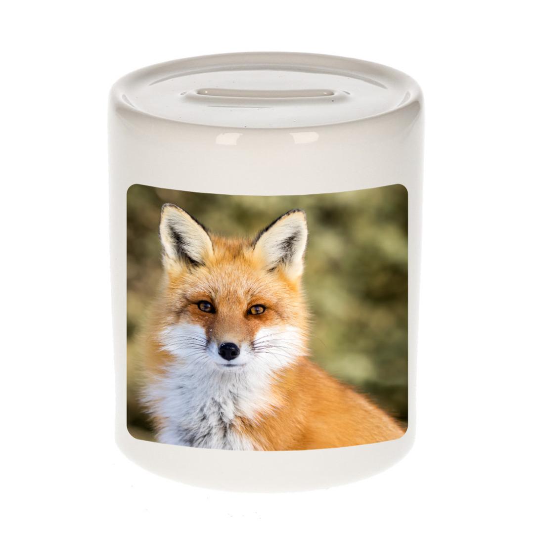 Foto vos spaarpot 9 cm - Cadeau vossen liefhebber