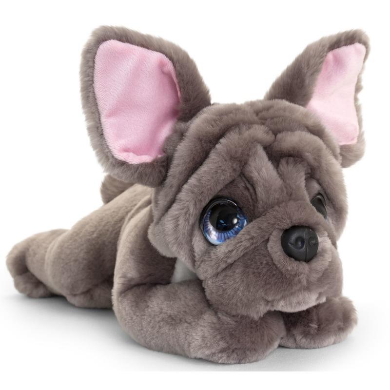Franse bulldog honden knuffeldier 32 cm