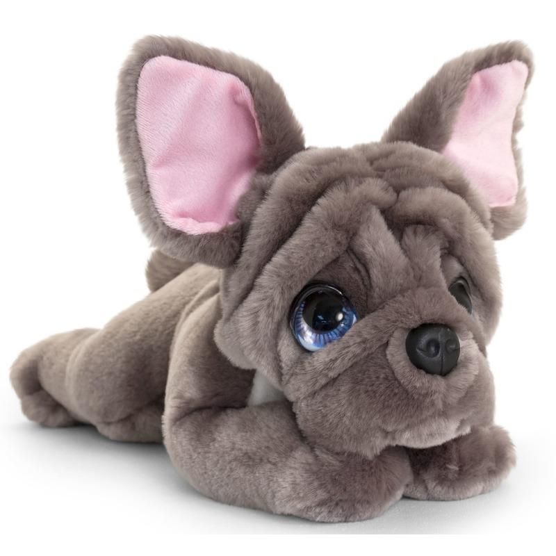 Franse bulldog honden knuffeldier 37 cm