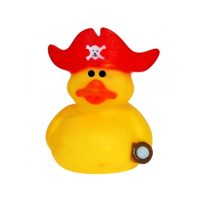 Geel kapitein met rode muts 5 cm