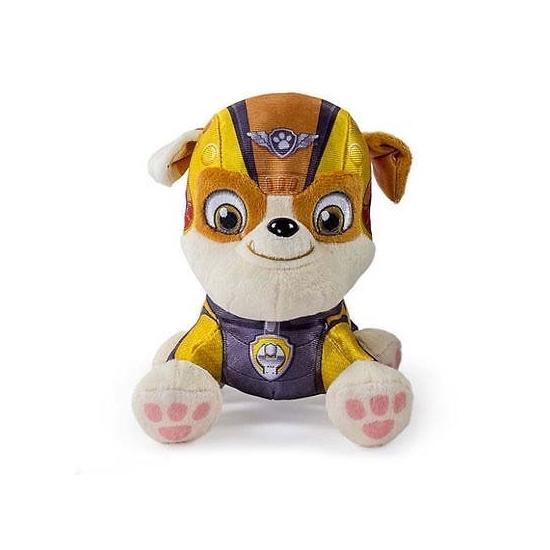 Gele Paw Patrol Engelse Bulldog knuffel 15 cm