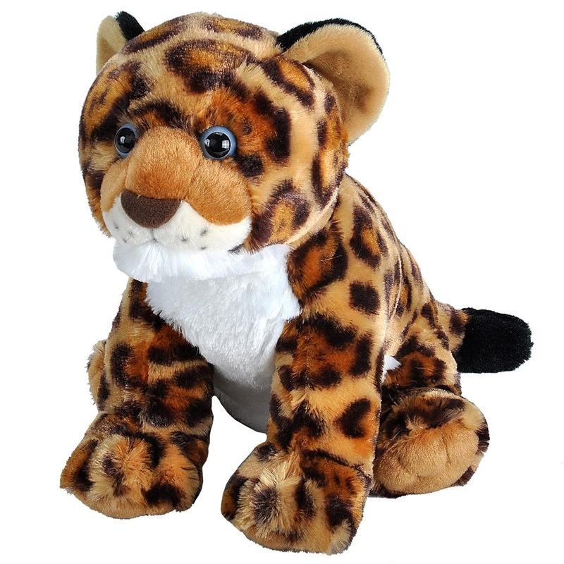 Gevlekte jaguars/luipaarden welpjes knuffels 30 cm knuffeldieren
