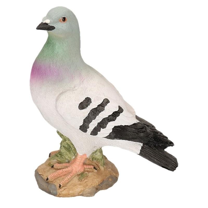 Grijze duif van steen 24 cm