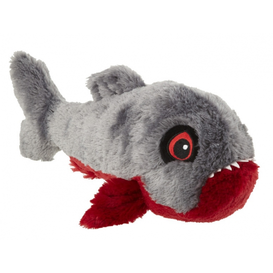 Grijze knuffel piranha