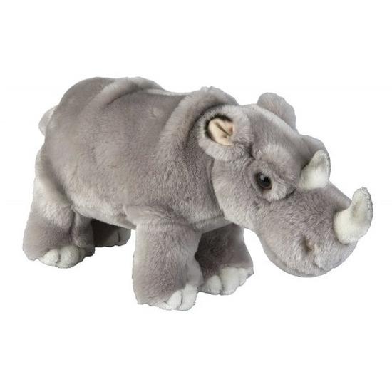 Afbeelding Grijze neushoorn knuffels 28 cm knuffeldieren door Animals Giftshop