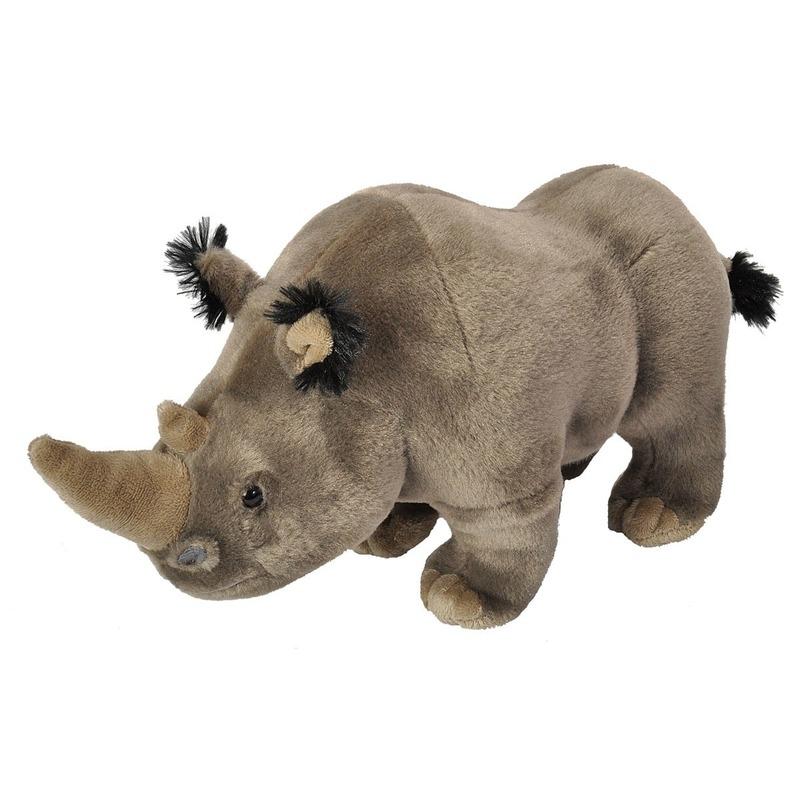 Grijze neushoorns knuffels 35 cm knuffeldieren