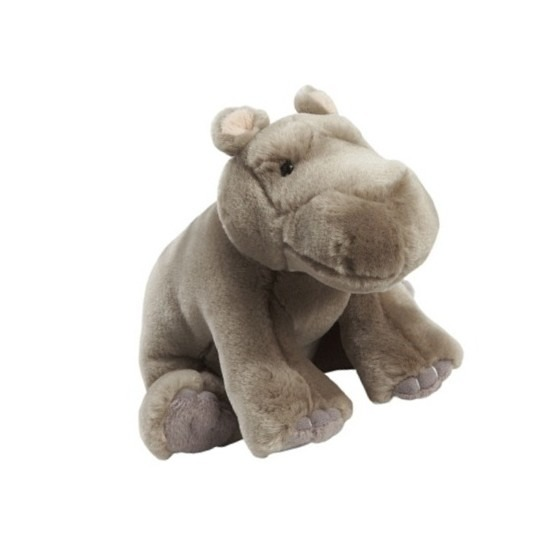 Grijze nijlpaard 18 cm knuffel