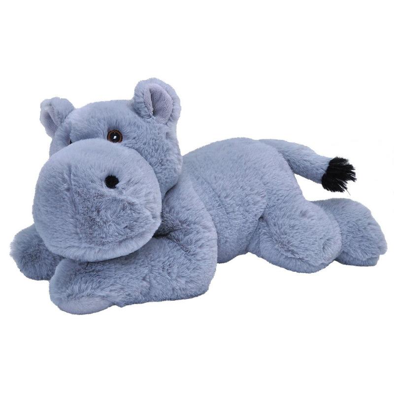 Grijze nijlpaarden knuffel 30 cm knuffeldieren