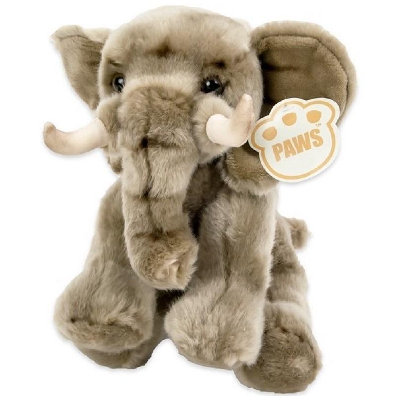 Grijze olifanten knuffel 25 cm knuffeldieren