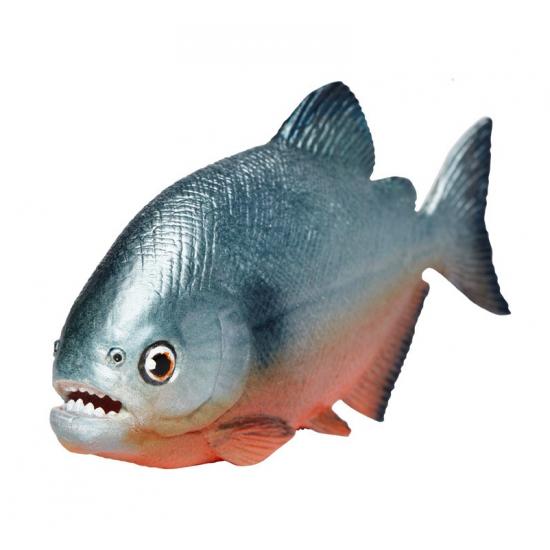 Grijze plastic Piranha 11 cm