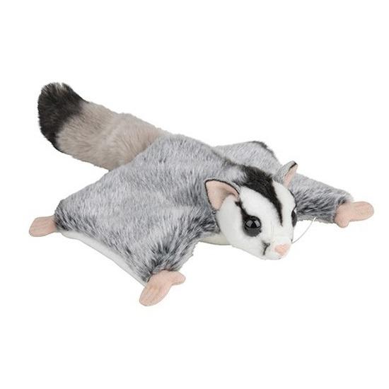 Grijze vliegende eekhoorns knuffels 34 cm knuffeldieren
