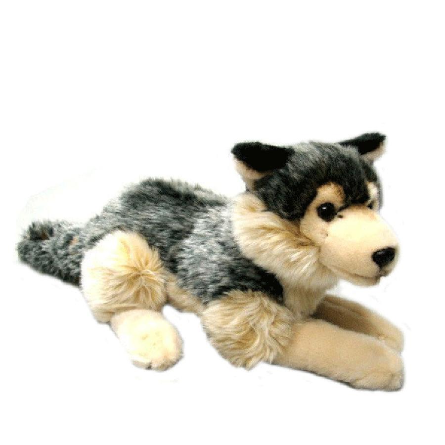 Grijze wolf knuffel 30 cm