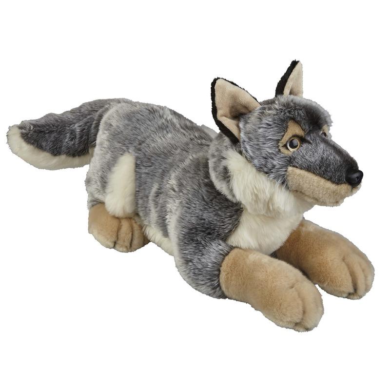 Grijze wolven knuffels 50 cm knuffeldieren