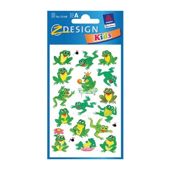 Groene kikker stickertjes 3 vellen