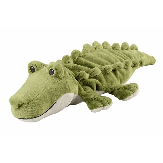 Groene krokodillen heatpack/coldpack knuffels 35 cm knuffeldieren