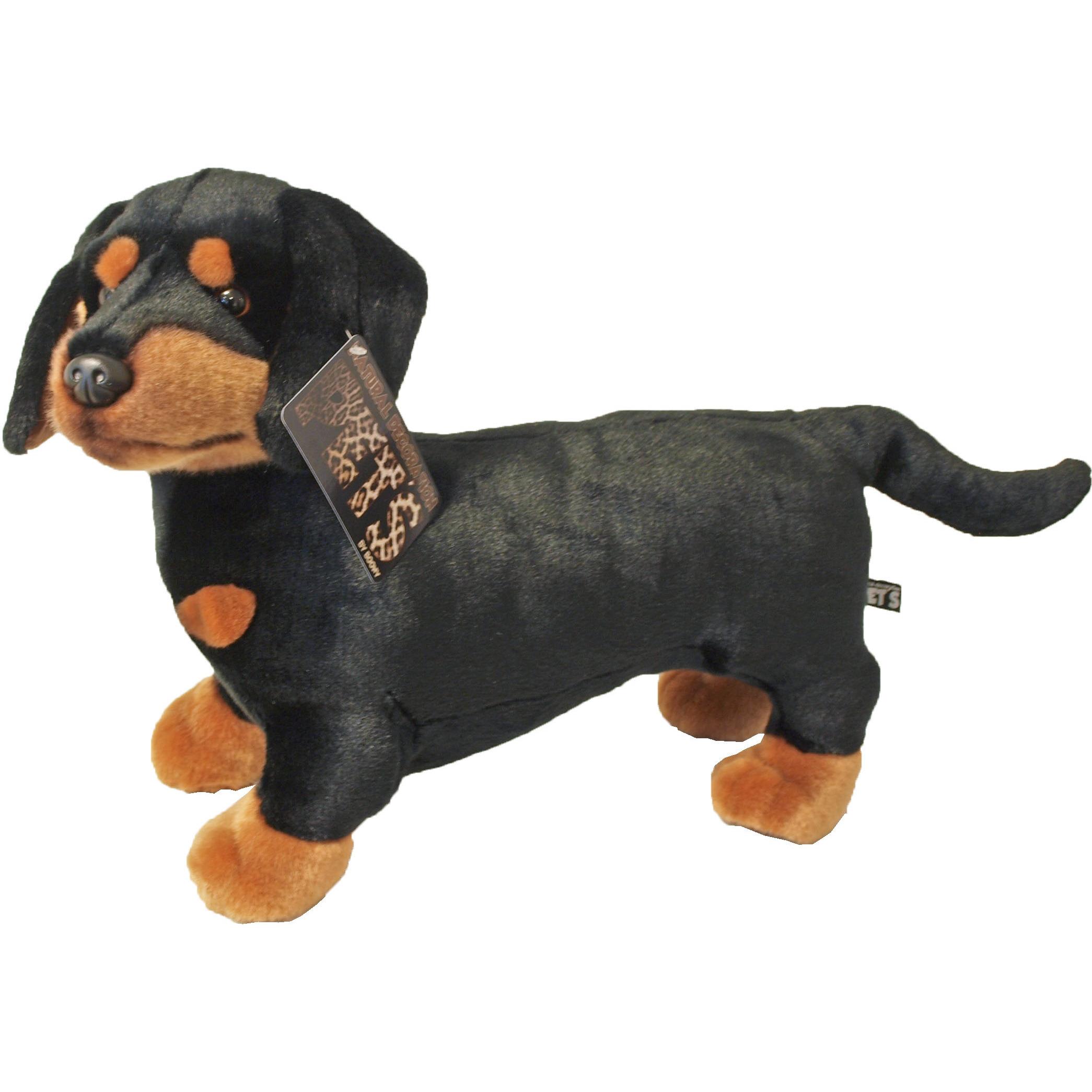 Grote bruin/zwarte honden knuffels 45 cm knuffeldieren