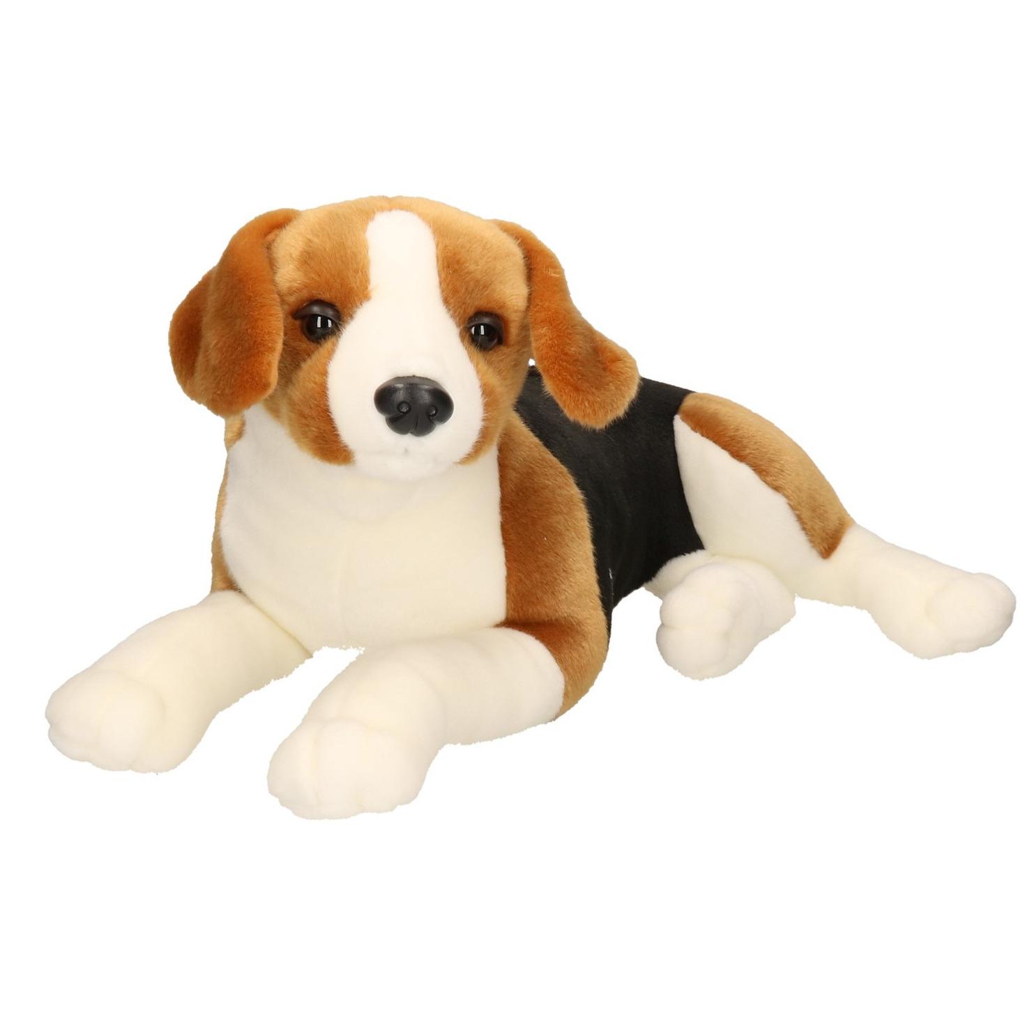 Grote bruin/zwarte honden knuffels 53 cm knuffeldieren