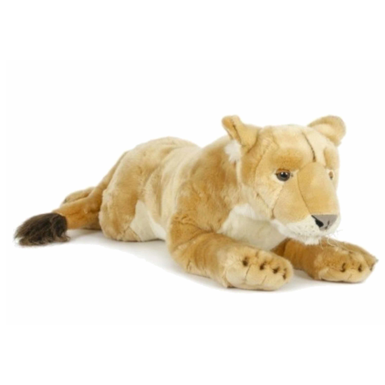 Grote pluche leeuwinnen knuffel 71 cm