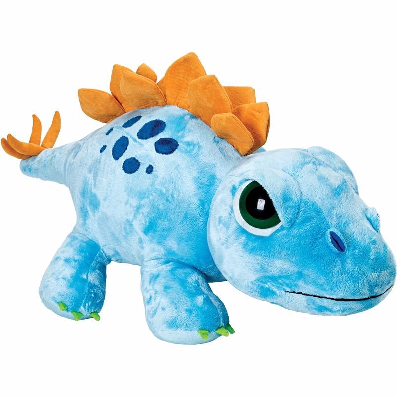 Grote Stegosaurus knuffel blauw 65 cm