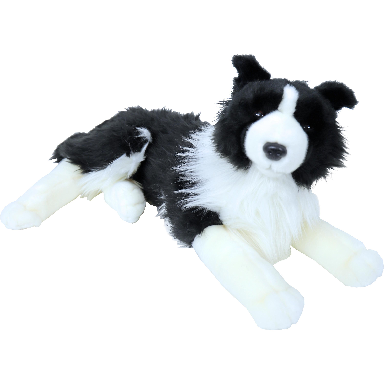 Grote zwart/witte honden knuffels 53 cm knuffeldieren