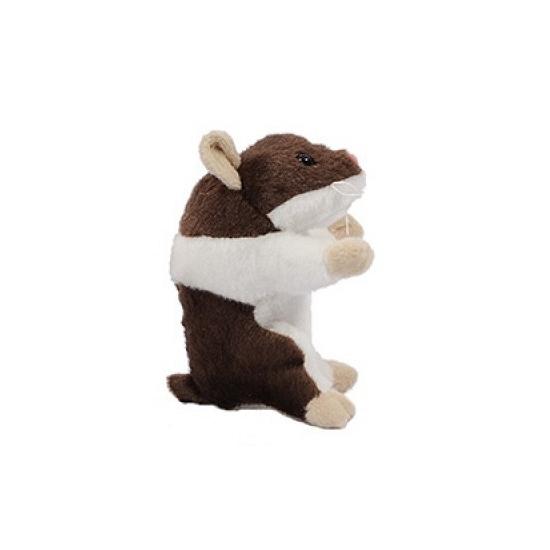Hamster knuffel van 13 cm bruin