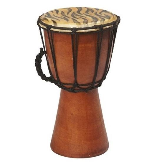 Handgemaakte bongo drum/trommel met tijgerprint 25 cm