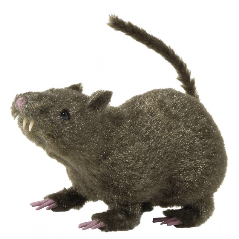 Harige decoratie ratten bruin 21 cm