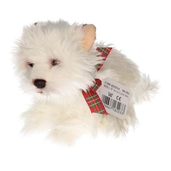 Higland Terrier knuffel wit 25 cm