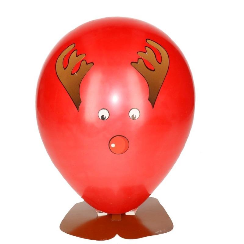Hobby ballon versieren rendier hoofd 27 cm