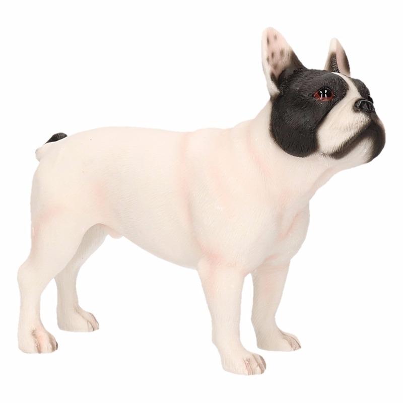 Honden beeldje witte Franse Bulldog 11 cm