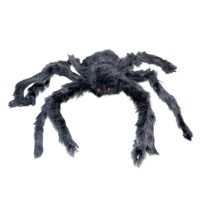 Horror decoratie spin zwart 40 cm