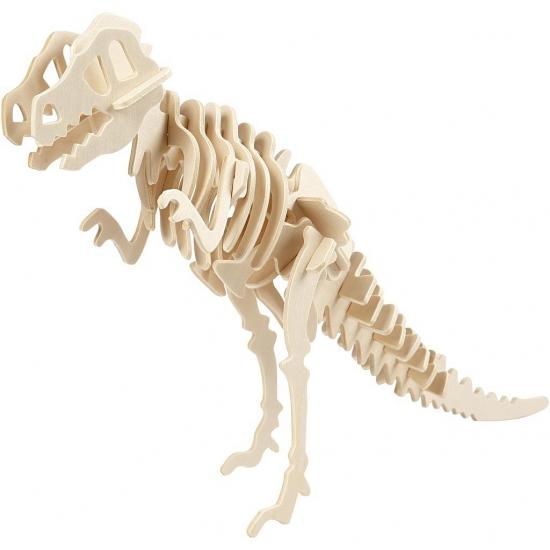 Houten dinosaurus 3d puzzel T-Rex met app