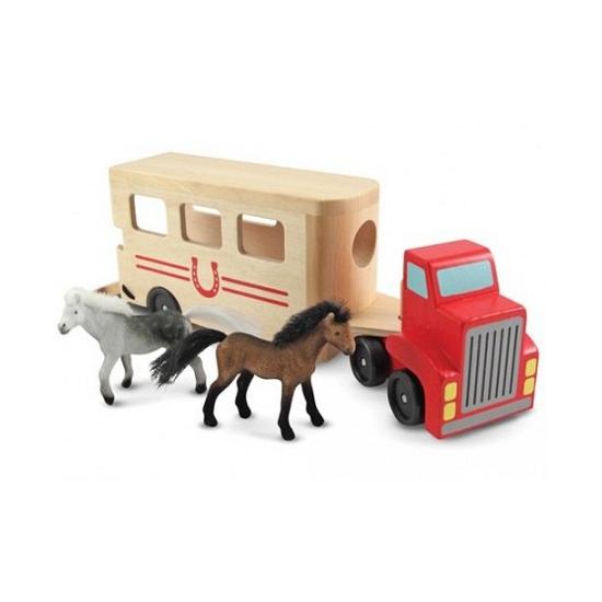 Houten paarden box en truck