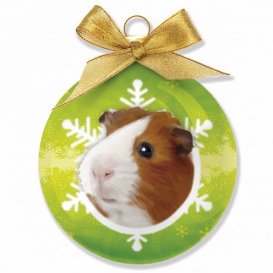 Huisdieren kerstballen cavia 8 cm