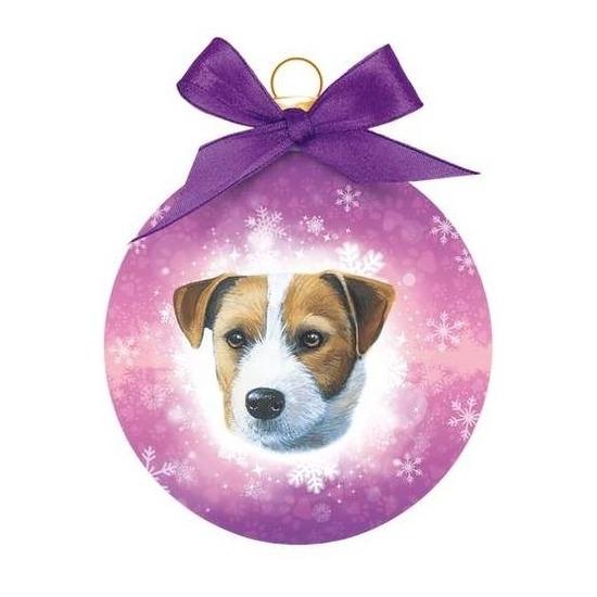 Huisdieren kerstballen Jack Russells honden 8 cm
