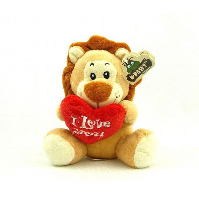 I Love You leeuw knuffel 14 cm knuffeldieren