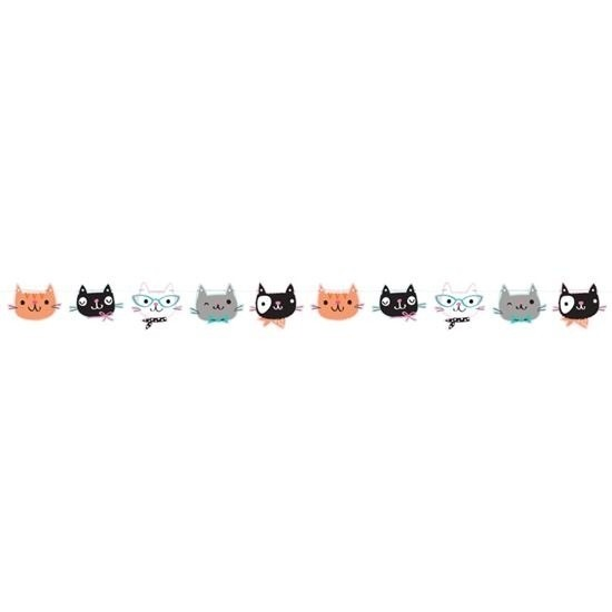 Katten/poezen feest slinger 170 cm