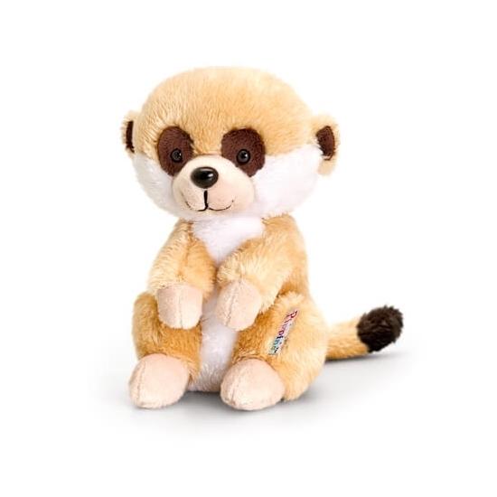 Keel Toys pluche stokstaartje knuffel zittend 14 cm