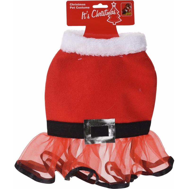 Kerst jurkje voor honden 30 cm