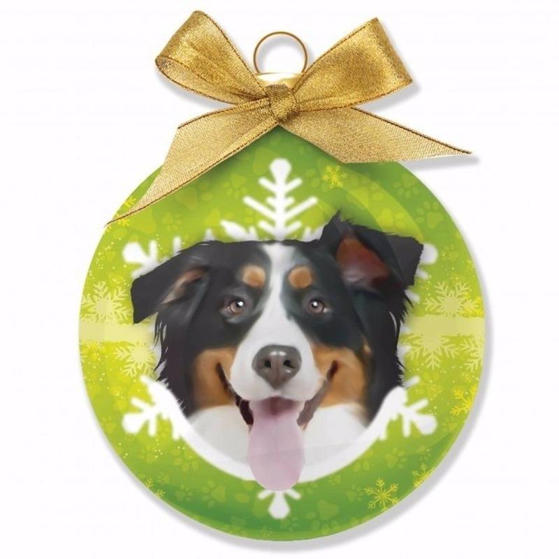 Kerstversiering dieren kerstballen Berner Sennen honden 8 cm