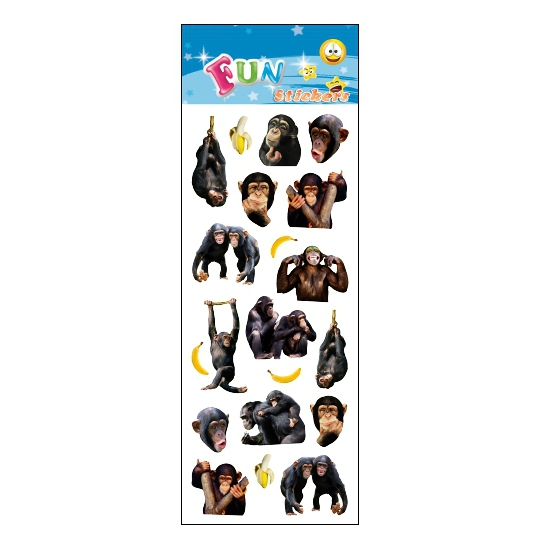 Kinder apen stickers