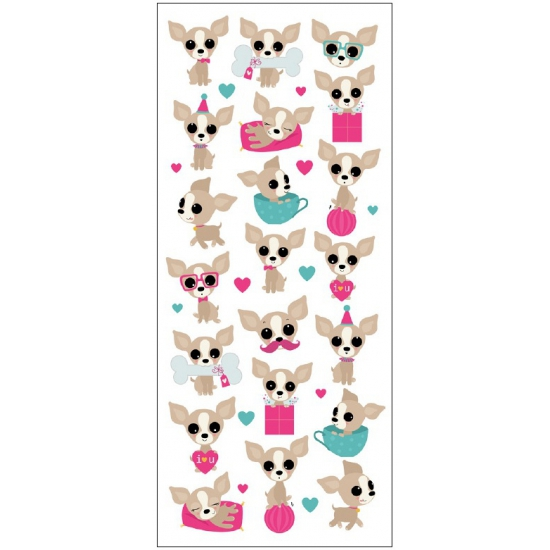 Kinder Chihuahua honden stickers