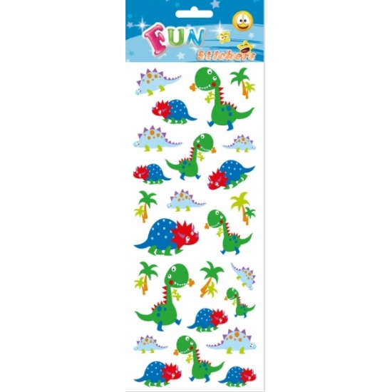 Kinder dino stickers cartoon