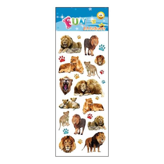 Kinder leeuwen stickers