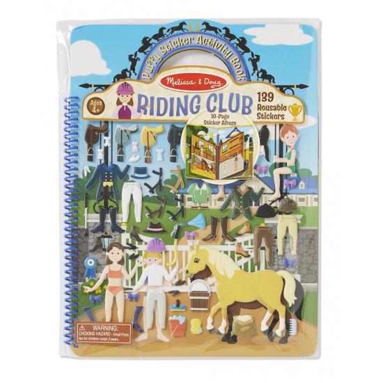 Kinder stickerboek met paarden thema