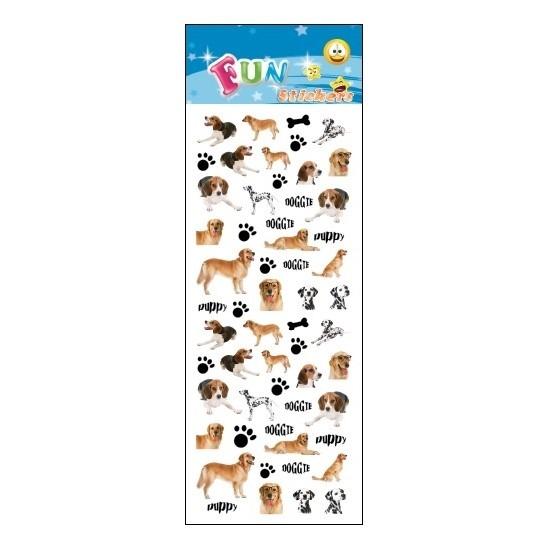 Kinder stickers hondjes