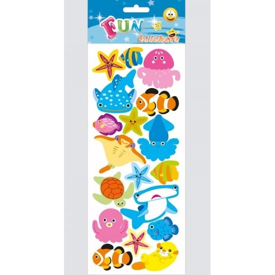 Afbeelding Kinder zeedieren stickers haaien en roggen door Animals Giftshop