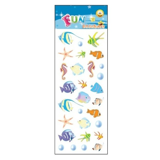 Kinder zeedieren stickers tropische vissen