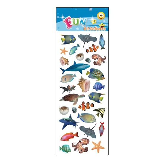 Kinder zeedieren stickers